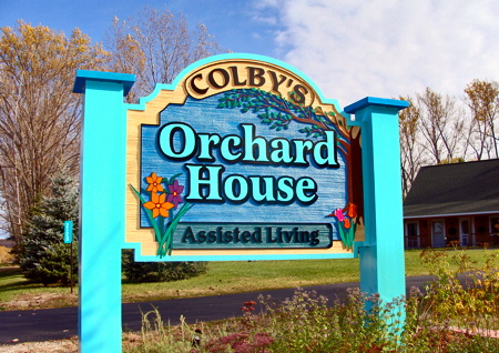 Colby's Orchard House - Michigan Assisted Living - sign